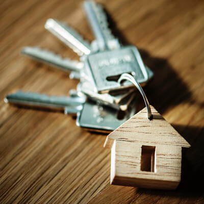 Photo of keys with a wooden house key fob by rawpixel on Unsplash